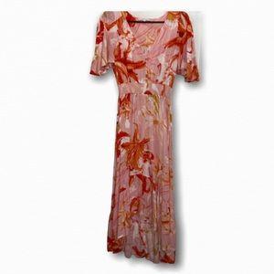 Abel the Label Midi Flowerbomb Dress sz SM